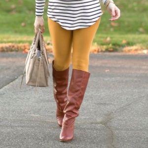 3/$20 LuLaRoe Solid Mustard Yellow OS Leggings